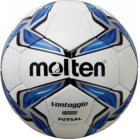 Мяч футзальный Molten, цвет: белый, синий, черный. Размер 4F9V1900Футзальный мяч Molten отлично подойдет для клубных тренировок. Выполнен из синтетической кожи. Хорошо держит форму. Ручное шитье. Отличное соотношение цена/качество.