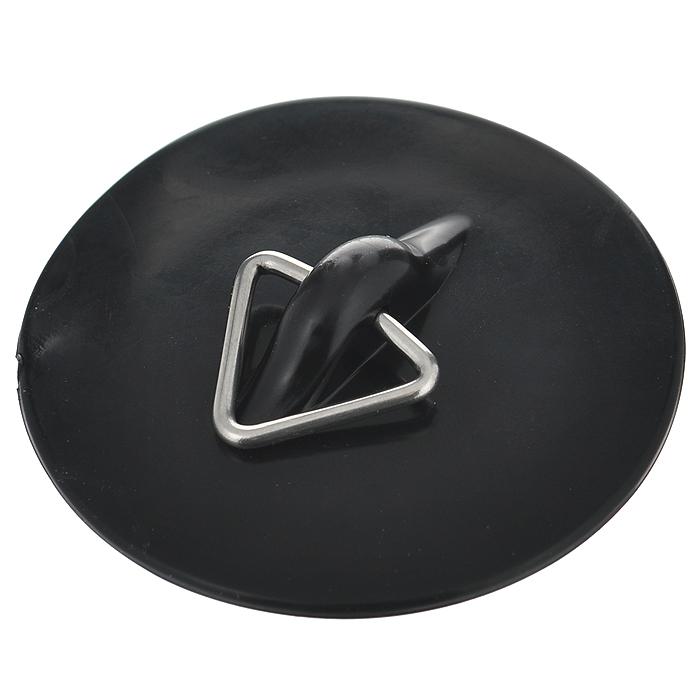 Пробка для раковины Metaltex, цвет: черный, диаметр 6 см29.75.52Пробка для раковины Metaltex изготовлена из резины и оснащена кольцом для цепочки или веревки. Предназначена для закупоривания сливного отверстия в раковине или ванне.Этот аксессуар станет приятным дополнением к интерьеру ванной комнаты. Диаметр сливного отверстия: 3,5 см.Диаметр пробки: 6 см.