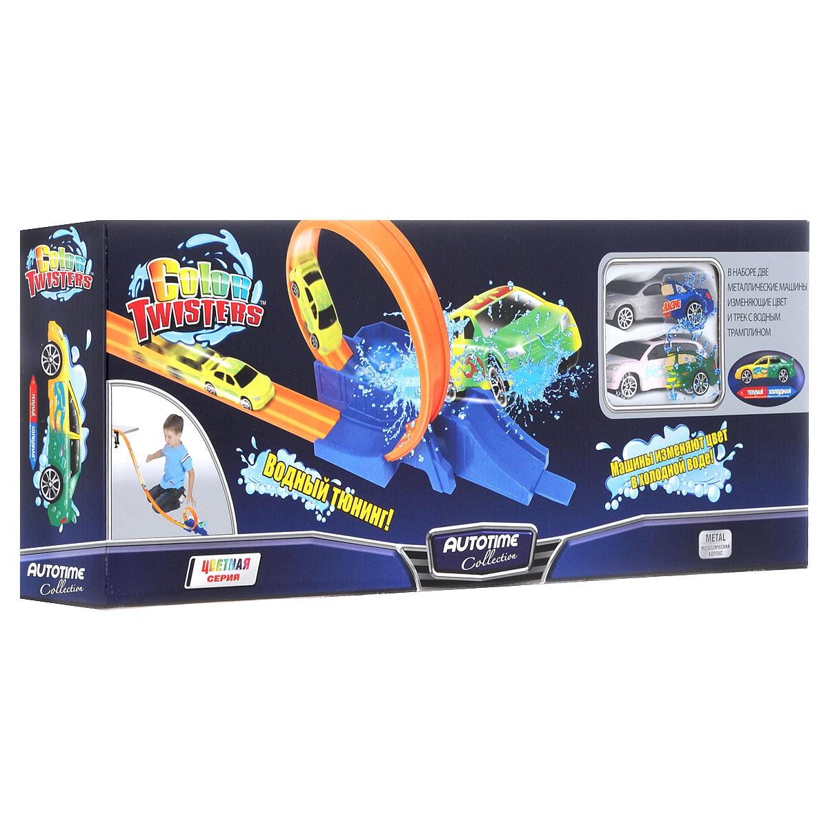 Autotime Игровой набор Color Twisters, с треком. 78179/02-RUS набор для сборки машинки s2 muscle car deluxe modarri