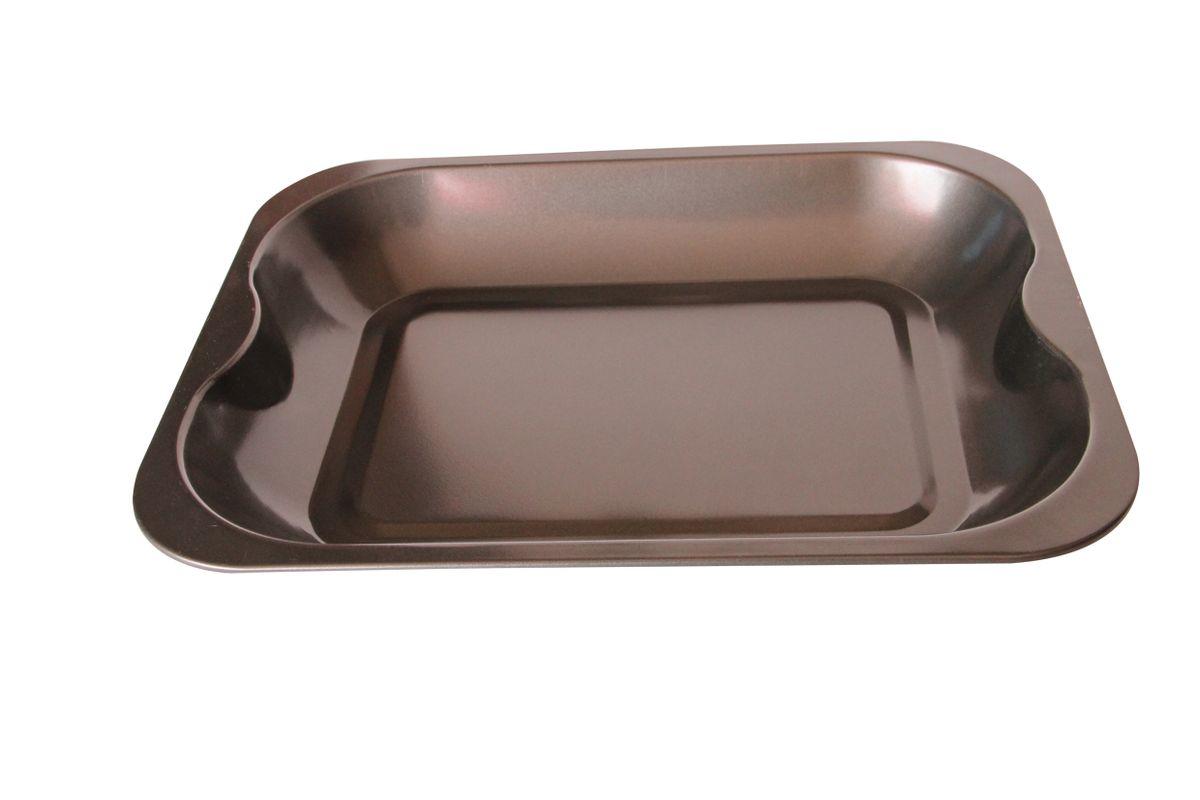 """Противень """"Bekker"""" прямоугольной формы изготовлен из высококачественной углеродистой стали с антипригарным покрытием Goldflon. Изделие имеет гладкую поверхность. Подходит для использования в духовом шкафу. Рекомендована ручная чистка.Внешний размер формы: 33 х 26 х 4,5 см.Внутренний размер формы: 30,05 х 23,5 х 4 см.Размер дна: 23,5 х 17 см."""