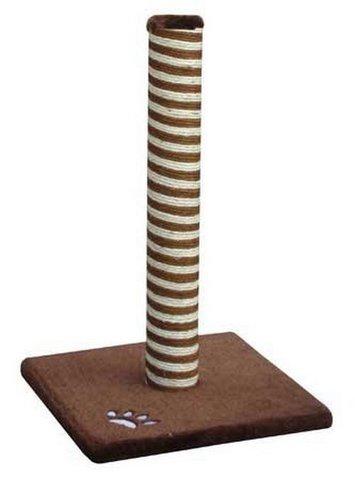 Когтеточка Fauna Classic, сизаль, цвет: коричневый, 40 см х 40 см х 63 см16394Когтеточка Fauna Classic поможет сохранить мебель и ковры в доме от когтей вашего любимца, стремящегося удовлетворить свою естественную потребность точить когти. Когтеточка изготовлена из сизаля, квадратное основание выполнено из дерева и обтянуто плюшем. Товар продуман в мельчайших деталях и, несомненно, понравится вашей кошке. Всем кошкам необходимо стачивать когти. Когтеточка - один из самых необходимых аксессуаров для кошки. Для приучения к когтеточке можно натереть ее сухой валерьянкой или кошачьей мятой. Когтеточка поможет вашему любимцу стачивать когти и при этом не портить вашу мебель.Товар сертифицирован.