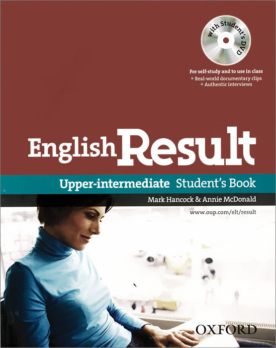 English Result: Upper-Intermediate: Student's Book: Level B2 (+ DVD-ROM) mackie g link intermediate wook book