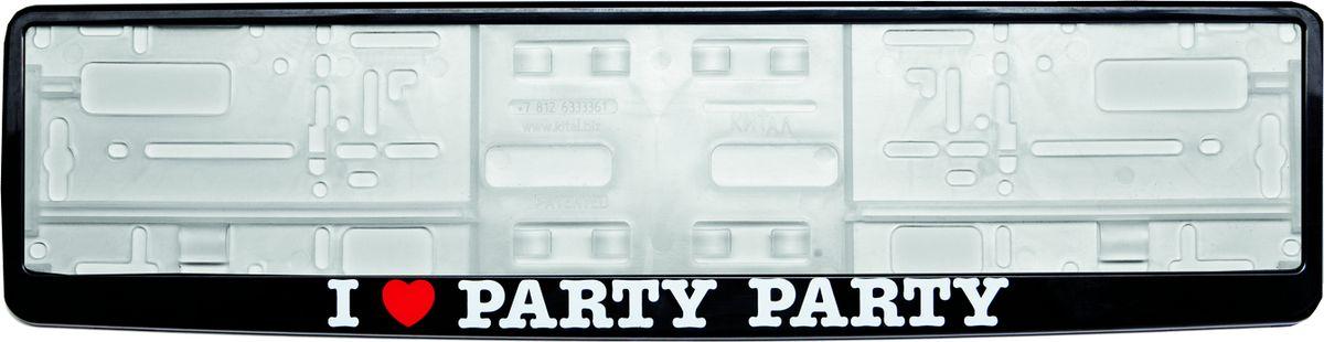 Рамка под номер I Love Party, 53 см х 13 смЗ0000012279Рамка под номер I Love Party предназначена для крепления регистрационного знака российского и европейского образца. Устанавливается на все типы автомобилей. Изготовлена из полипропилена, лицевая панель выполнена из ABS-пластика. Оригинальная надпись I Love Party выделит вашу машину на дороге и подчеркнет вашу индивидуальность.