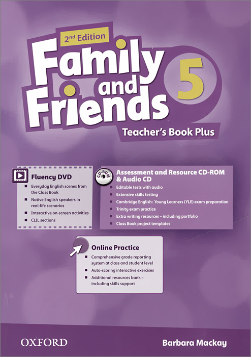 Family and Friends: Level 5: Teacher's Book Plus with Online Practice (+ DVD, CD-ROM, CD) cambridge learners dictionary english russian paperback with cd rom