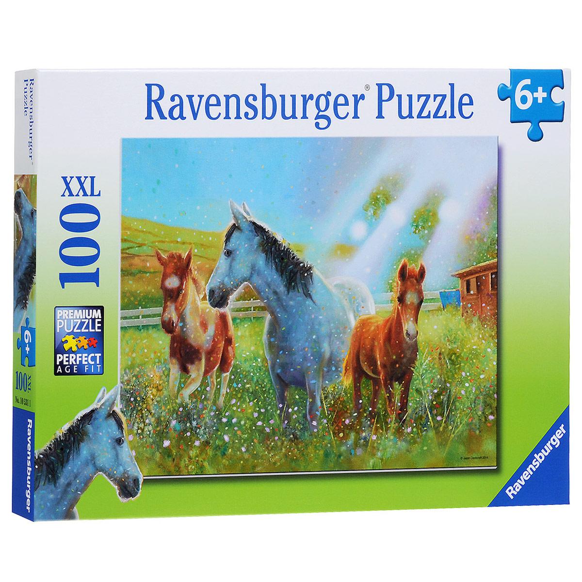 Ravensburger Лошади в лучах солнца. Пазл XXL, 100 элементов
