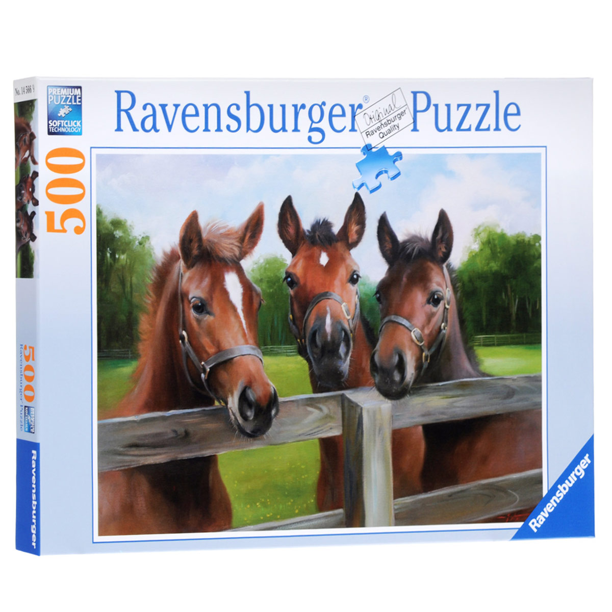 Ravensburger Три лошади. Пазл, 500 элементов