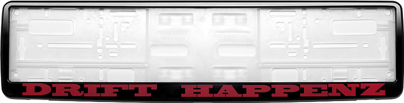Рамка под номер Drift HappenzЗ0000012295Рамка Drift Happenz не только закрепит регистрационный знак на вашем автомобиле, но и красиво его оформит. Основание рамки выполнено из полипропилена, материал лицевой панели - пластик.Она предназначена для крепления регистрационного знака российского и европейского образца, декорирована орнаментом и надписью Drift Happenz. Устанавливается на все типы автомобилей. Крепления в комплект не входят.Стильный дизайн идеально впишется в экстерьер вашего автомобиля.Размер рамки: 53,5 см х 13,5 см. Размер регистрационного знака: 52,5 см х 11,5 см.