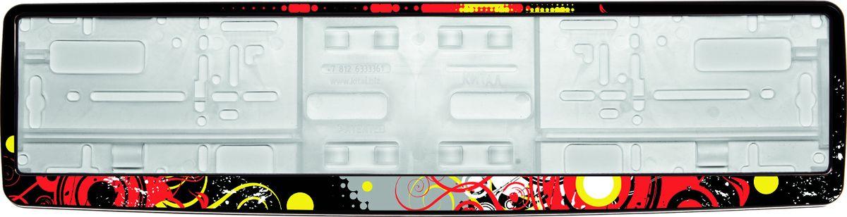 Рамка под номер НокаутЗ0000012285Рамка Нокаут не только закрепит регистрационный знак на вашем автомобиле, но и красиво его оформит. Основание рамки выполнено из полипропилена, материал лицевой панели - пластик.Она предназначена для крепления регистрационного знака российского и европейского образца, декорирована изображением. Устанавливается на все типы автомобилей. Крепления в комплект не входят.Стильный дизайн идеально впишется в экстерьер вашего автомобиля.Размер рамки: 53,5 см х 13,5 см. Размер регистрационного знака: 52,5 см х 11,5 см.