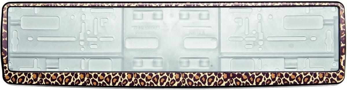 Рамка под номер Леопард, 53 х 13 смЗ0000012282Рамка под номер Леопард предназначена для крепления регистрационного знака российского и европейского образца. Устанавливается на все типы автомобилей. Изготовлена из полипропилена, лицевая панель выполнена из ABS-пластика и оформлена леопардовым принтом. Оригинальная рамка под номер выделит вашу машину на дороге и подчеркнет вашу индивидуальность.