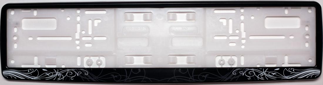 Рамка под номер АР-ДекоЗ0000012275Рамка АР-Деко не только закрепит регистрационный знак на вашем автомобиле, но и красиво его оформит. Основание рамки выполнено из полипропилена, материал лицевой панели - пластик.Она предназначена для крепления регистрационного знака российского и европейского образца, декорирована орнаментом. Устанавливается на все типы автомобилей. Крепления в комплект не входят.Стильный дизайн идеально впишется в экстерьер вашего автомобиля.Размер рамки: 53,5 см х 13,5 см. Размер регистрационного знака: 52,5 см х 11,5 см.
