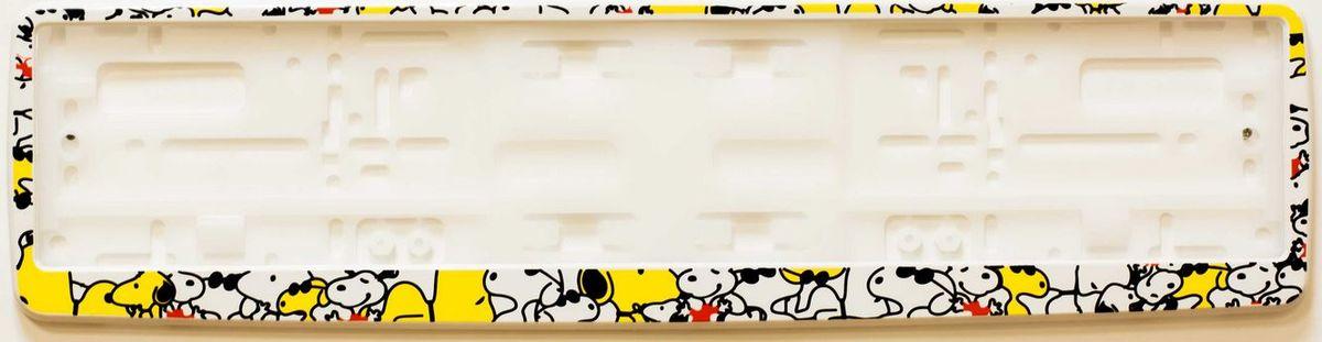 Рамка под номер СобачкиЗ0000014320Рамка Собачки не только закрепит регистрационный знак на вашем автомобиле, но и красиво его оформит. Основание рамки выполнено из полипропилена, материал лицевой панели - пластик.Она предназначена для крепления регистрационного знака российского и европейского образца, декорирована изображением милых собачек. Устанавливается на все типы автомобилей. Крепления в комплект не входят.Стильный дизайн идеально впишется в экстерьер вашего автомобиля.Размер рамки: 53,5 см х 13,5 см. Размер регистрационного знака: 52,5 см х 11,5 см.