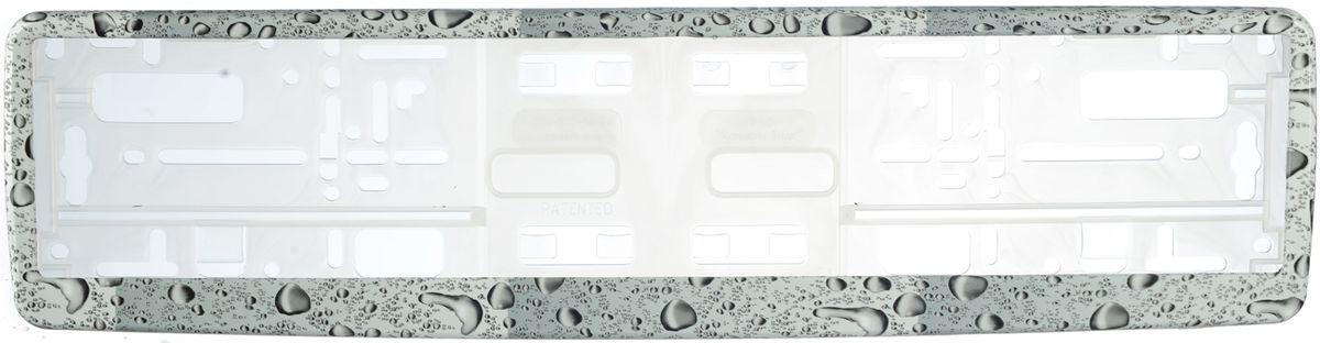 Рамка под номер КаплиЗ0000014103Рамка Капли не только закрепит регистрационный знак на вашем автомобиле, но и красиво его оформит. Основание рамки выполнено из полипропилена, материал лицевой панели - пластик.Она предназначена для крепления регистрационного знака российского и европейского образца, декорирована изображением капель. Устанавливается на все типы автомобилей. Крепления в комплект не входят.Стильный дизайн идеально впишется в экстерьер вашего автомобиля.Размер рамки: 53,5 см х 13,5 см. Размер регистрационного знака: 52,5 см х 11,5 см.