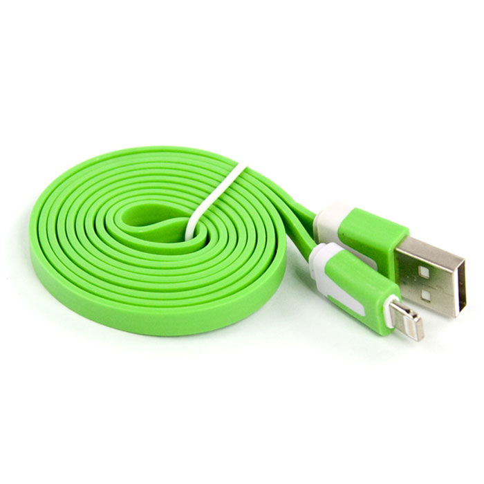 Liberty Project дата-кабель Apple Lightning плоский узкий, Green (европакет) apple lightning на microusb адаптер