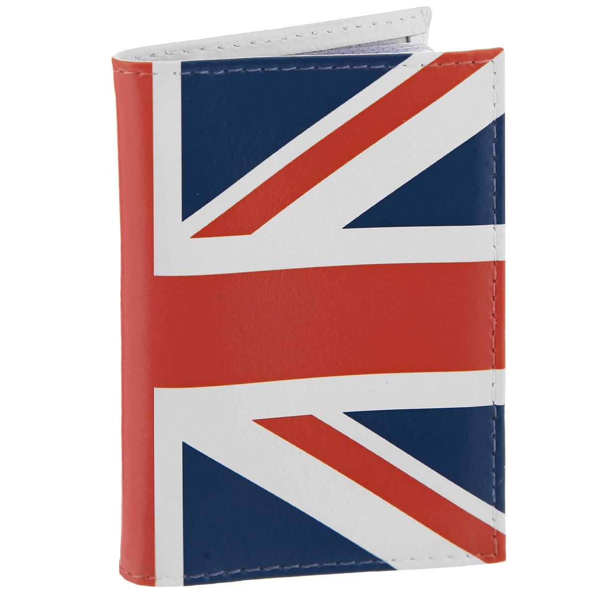 Визитница Британский флаг в краске. VIZIT-146
