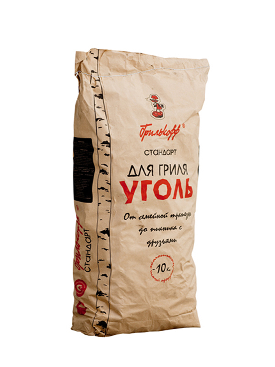 Уголь березовый Грилькофф Стандарт, для гриля, 10 кг брикеты для растопки грилькофф 20 шт
