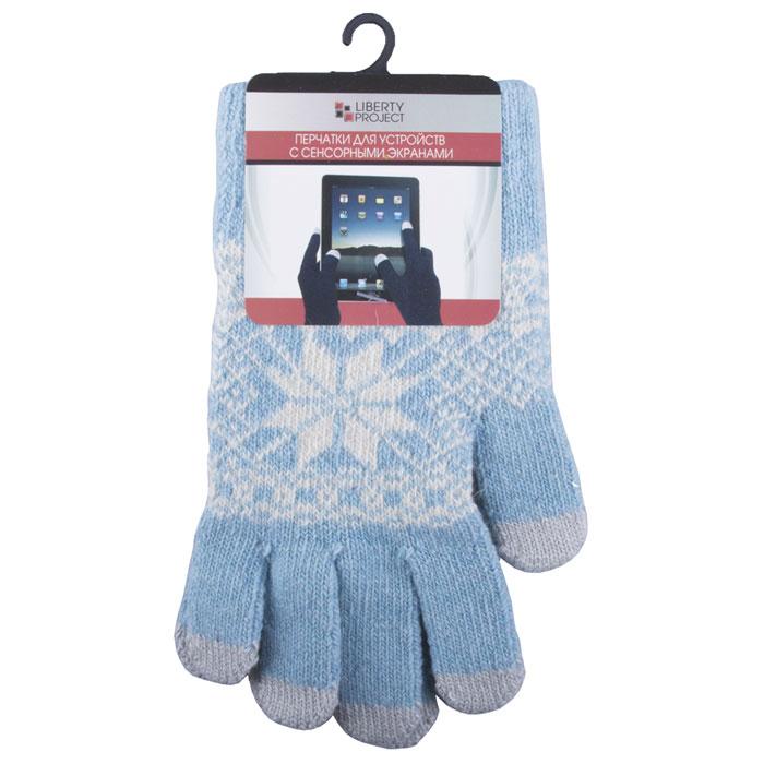 Liberty Project Снежинка, Light Blue перчатки для сенсорных экранов, размер S (1004) защитные стекла liberty project защитное стекло lp для nokia 630 tempered glass 0 33 мм 9h ударопрочное