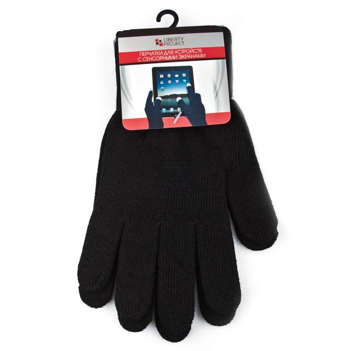 Liberty Project 8000, Black перчатки для сенсорных экранов (размер M)CD125839Перчатки Liberty Project 8000 предназначены для удобства использования цифровых устройств с сенсорными экранами в сезон холодов и для работы при низких температурах. Вся пять пальцев и даже вся поверхность перчаток содержит вплетенные металлизированные нити, которые позволяют экрану чутко реагировать на ваши прикосновения.