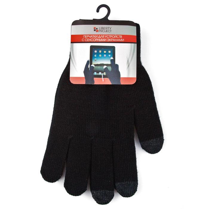 Liberty Project, Black перчатки для сенсорных экранов (размер S)R0000493Перчатки Liberty Project предназначены для удобства использования цифровых устройств с сенсорными экранами в сезон холодов и для работы при низких температурах. Управление девайсами осуществляется с помощью трех пальцев на каждой перчатке.