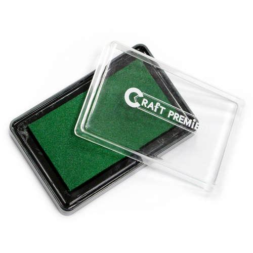 Подушечка штемпельная Craft Premier, цвет: зеленый, черный цена