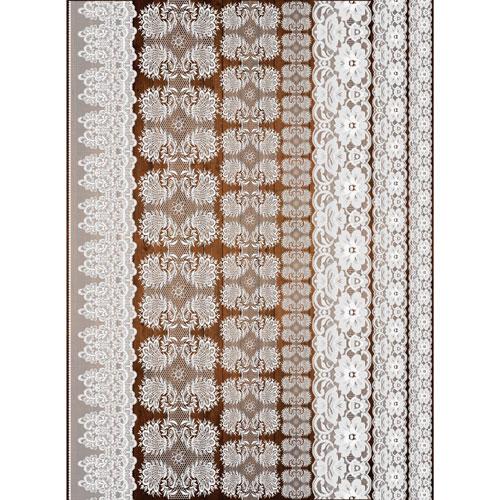 Рисовая бумага для декупажа Craft Premier, A3, 25г/м, Кружева-1CP08920Плотность бумаги 25 г/м бумага, ПВХ