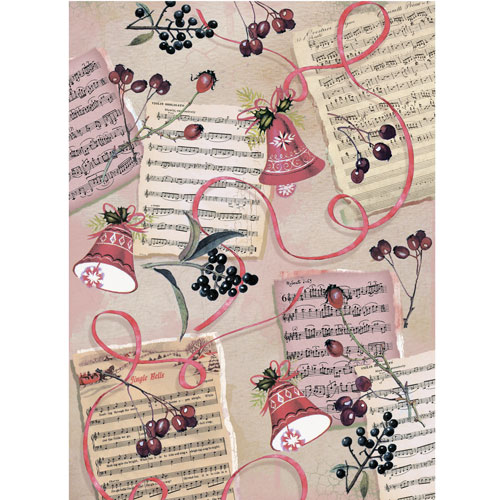 Рисовая бумага для декупажа Craft Premier, A3, 25г/м, Зимние ягодыCP09309Плотность бумаги 25 г/м бумага, ПВХ