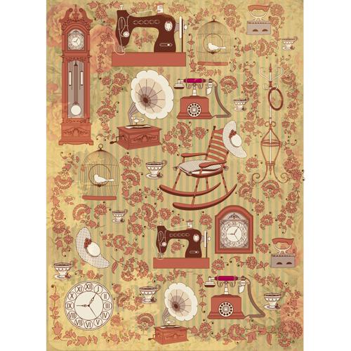 Рисовая бумага для декупажа Craft Premier, A3, 25г/м, Ретро интерьерCP09620Плотность бумаги 25 г/м бумага, ПВХ