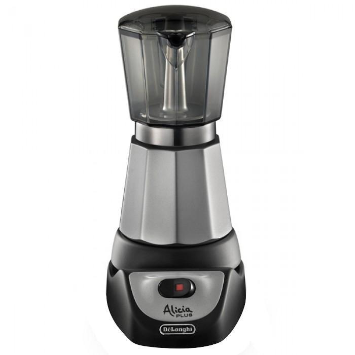 DeLonghi EMKM 4 B кофеваркаEMKM 4 BАВТОМАТИЧЕСКОЕ ОТКЛЮЧЕНИЕЭлектрическая кофеварка автоматически выключается, когда кофе готов, и сохраняет его температуру в течение 30 минут. Кофе никогда не выкипитПОДОГРЕВКофе сохраняется горячим в течении 30 минут.Кофеварка выключается при снятии ее с подставки, но при повторном включении подогрев на 30 минут снова активируетсяЛЕГКАЯ ОЧИСТКАКонтейнер для кофе и его крышка выполнены из прозрачного, но прочного материала, который легко чистить. Основание кофеварки не нагревается, что позволяет ставить ее на любую поверхность