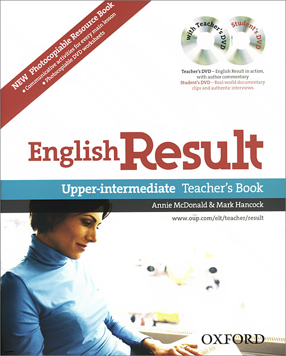 English Result: Upper-intermediate: Teacher's and Photocopiable Resource Book (+ 2 DVD-ROM) total english intermediate student s book dvd rom
