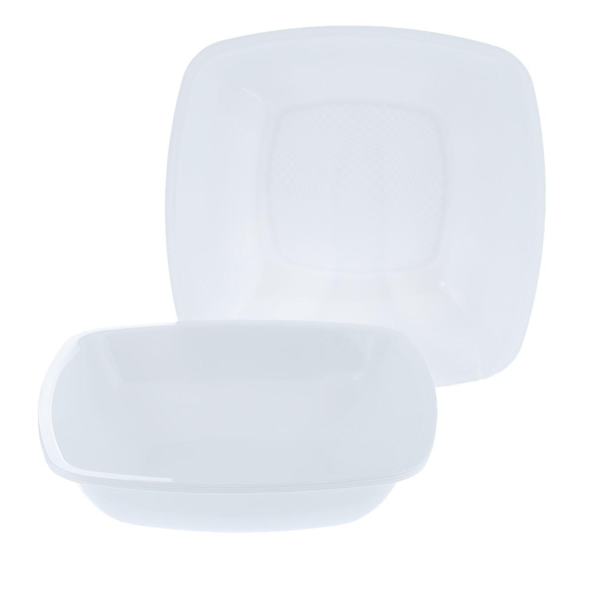 Набор одноразовых глубоких тарелок Buffet, цвет: белый, 18 см х 18 см, 6 шт2801Набор Buffet состоит из 6 глубоких тарелок, выполненных из полипропиленаи предназначенных для одноразового использования. Тарелки подойдут для различных пищевых продуктов. Одноразовые тарелки будут незаменимы при поездках на природу, пикниках и других мероприятиях. Они не займут много места, легки и самое главное - после использования их не надо мыть.Размер тарелки: 18 см х 18 см.Высота тарелки: 4,5 см.