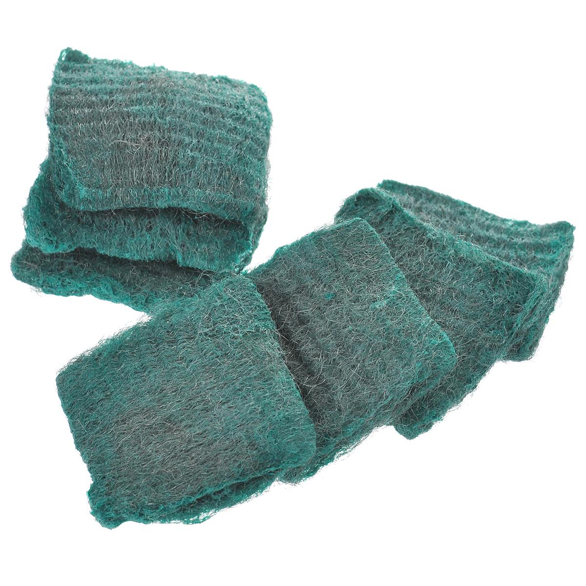 Губки с мылом Home Queen, цвет: зеленый, 7 шт42Губки с мылом Home Queen идеально очищают сложные загрязнения, такие как: ржавчина, известковый налет, пригоревший жир, накипь. В наборе - 7 губок, изготовленных изтончайшего стального волокна. Мыло содержит тензиды, растворяющие жир, и пальмовое масло, которое заботиться о ваших руках. Губки Home Queen - экологически чистый продукт. Его чистящие и моющие компоненты разлагаются биологическим путем.Размер губки: 6 см х 6 см х 1,5 см. Количество губок: 7 шт.