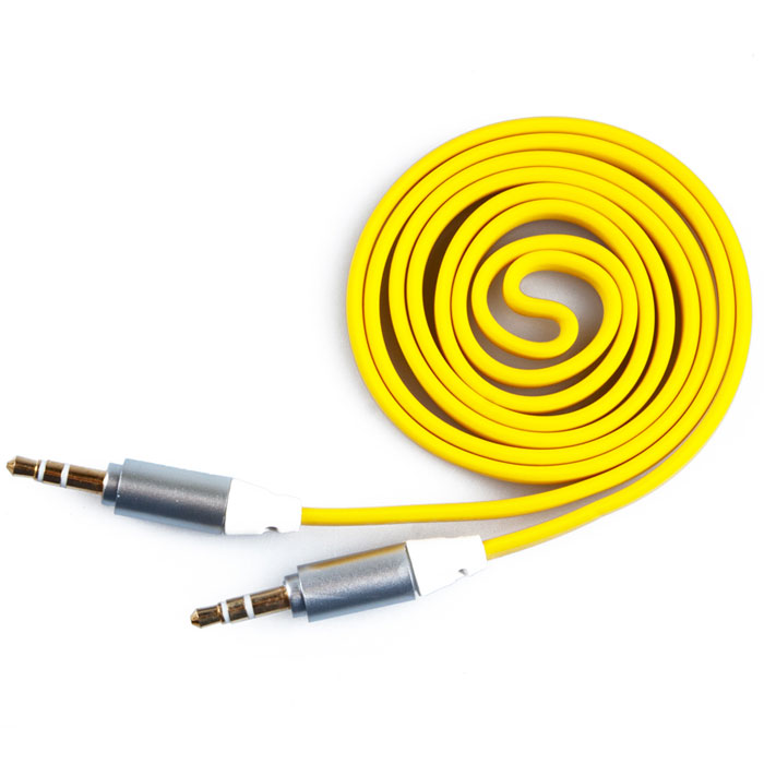 Liberty Project аудиокабель плоский, Yellow (1 м)SM001725Кабель Liberty Projectпредназначен для передачи звука между устройствами с разъемами 3.5 мм.