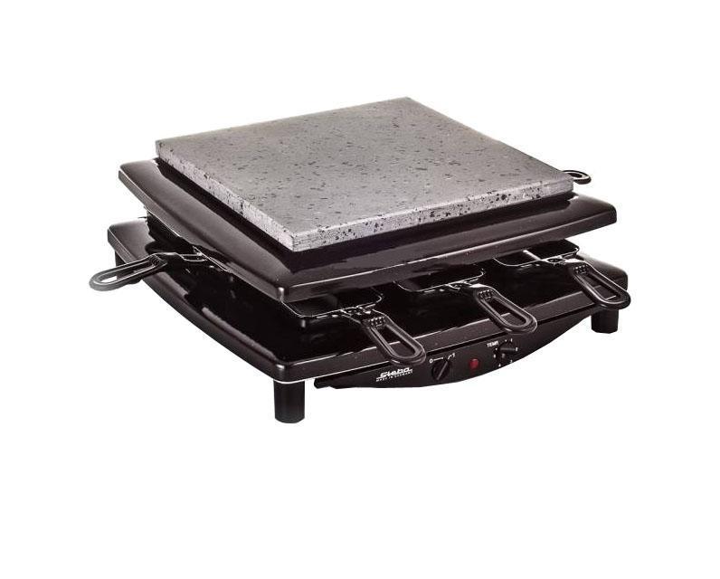 Steba RC 3 Plus, Chrom раклетницаRC 3 plus chromСъёмная литая пластина для гриля (рифлёная)Пластина для гриля из натурального камня, устойчивая к порезам и царапинам (гладкая)8 маленьких сковородок- Можно мыть в посудомоечной машине- Устойчивы к порезам и царапинамРабочая поверхность гриля 26 x 26 смПлавный регулятор температурыПереключатель вкл./выкл.Сигнальная лампочка рабочего режимаПриспособление для намотки кабеля