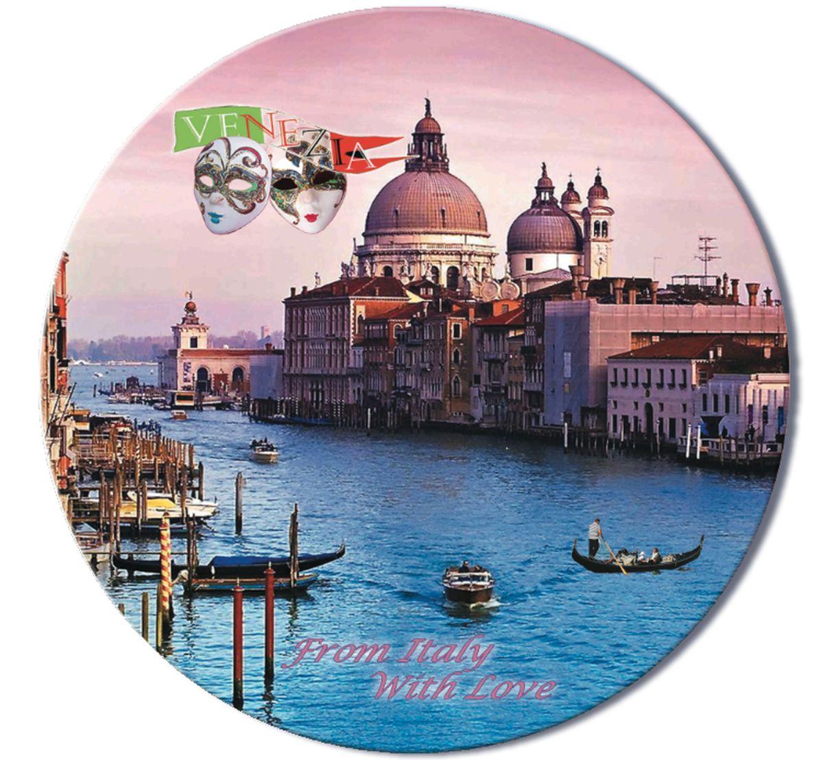 Доска разделочная GiftnHome Венеция, стеклянная, диаметр 19 смRCB-VeneziaРазделочная доска GiftnHome Венеция выполнена из жароустойчивого стекла. Изделие, украшенное красочным изображением, идеально впишетсяв интерьер современной кухни. Специальное покрытие вкладыша обеспечивает стойкость к влаге и высоким температурам. Изделие легко чистить от пятен и жира. Также доску можно применять как подставку под горячее.Разделочная доска GiftnHome Венеция украсит ваш стол и сбережет его от воздействия высоких температур ваших кулинарных шедевров. Можно мыть в посудомоечной машине.Диаметр доски: 19 см. Толщина доски: 0,4 см.