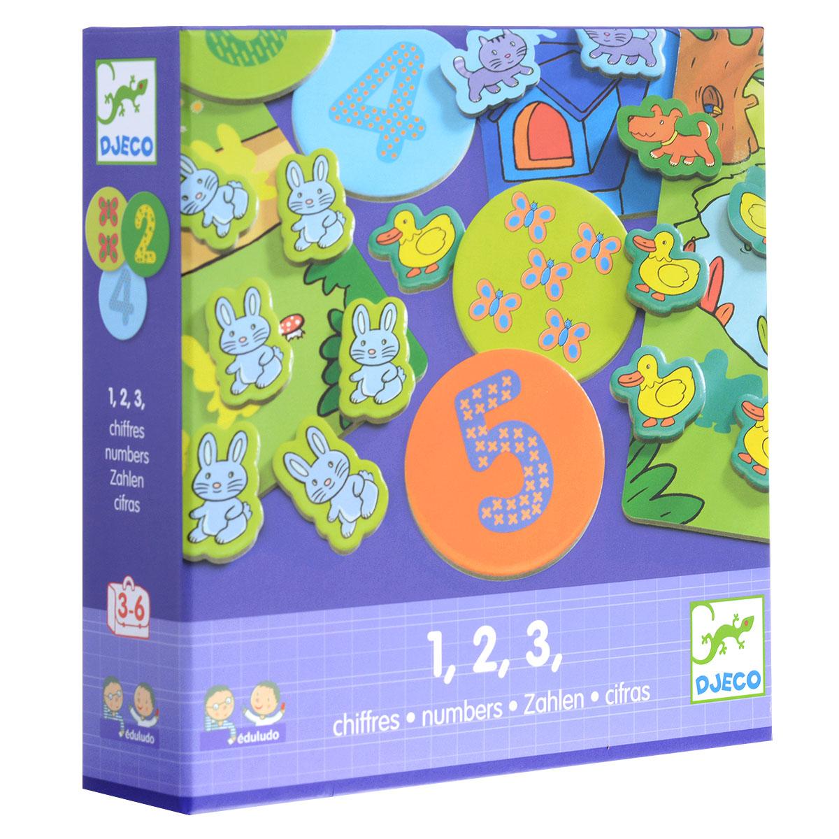 Djeco Обучающая игра Цифры нескучные игры обучающая игра мемо москва