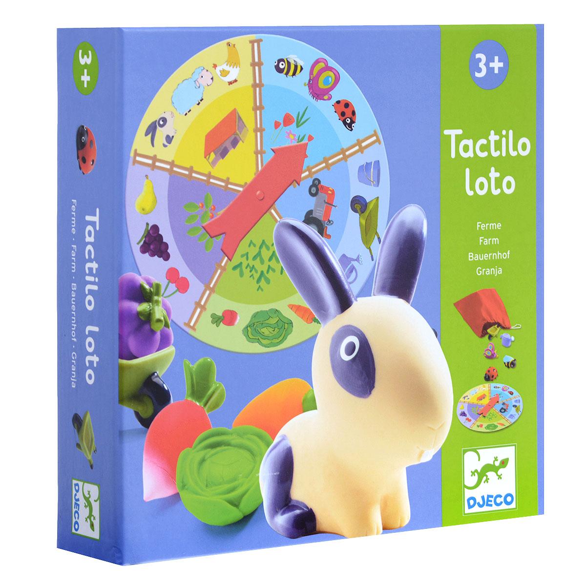 Djeco Лото Ферма игра тактильное лото животные djeco