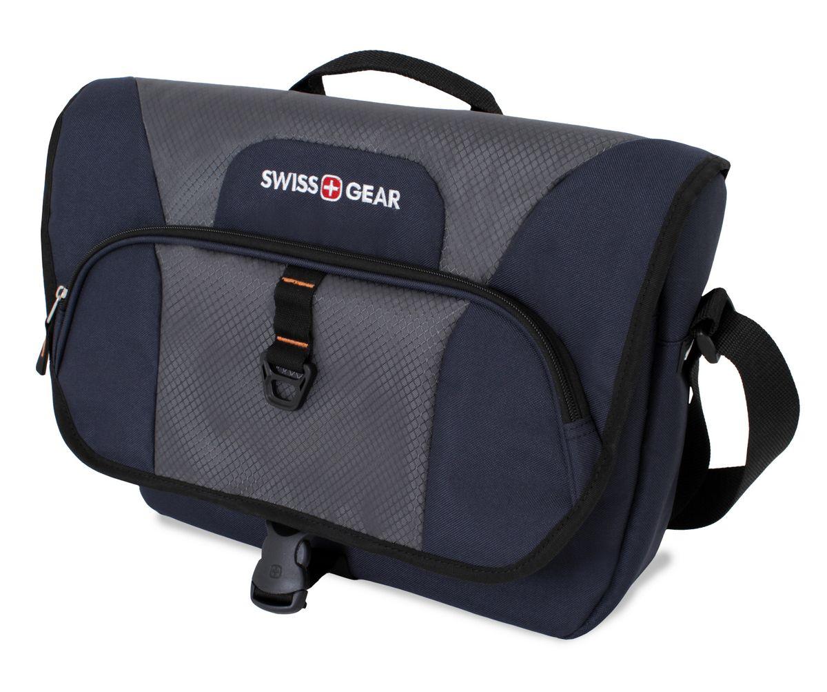 Сумка наплечная SwissGear, цвет: синий, серый, 13 л6166344505Наплечная сумка SwissGear выполнена из прочного полиэстера. Она оснащена 1 основным отделением на застежке-молнии, 1 карманом на крышке и 1 карманом под крышкой.Особенности сумки:Отделение для ноутбука с мягкими стенками. Подходит для большинства ноутбуков с диагональю экрана 15 дюймов;Карман-органайзер для мелких предметов. Включает в себя съемную ключницу, раздельные кармашки для пишущих принадлежностей, мобильного телефона, удостоверения личности и флешки; Регулируемый ремень с застежкой-карабином для надежного хранения содержимого сумки;Регулируемый мягкий плечевой ремень;Удобное расположение кармана обеспечивает легкий доступ к мелким предметам.По всем вопросам гарантийного и постгарантийного обслуживания рюкзаков, чемоданов, спортивных и кожаных сумок, а также портмоне марок Wenger и SwissGear вы можете обратиться в сервис-центр, расположенный по адресу: г. Москва, Саввинская набережная, д.3. Тел: (495) 788-39-96, (499) 248-56-56, ежедневно с 9:00 до 21:00. Подробные условия гарантийного обслуживания приведены в гарантийном талоне, поставляемым в комплекте с каждым изделием. Бесплатный ремонт изделий производится при условии предоставления гарантийного талона и товарного/кассового чека, подтверждающего дату покупки.