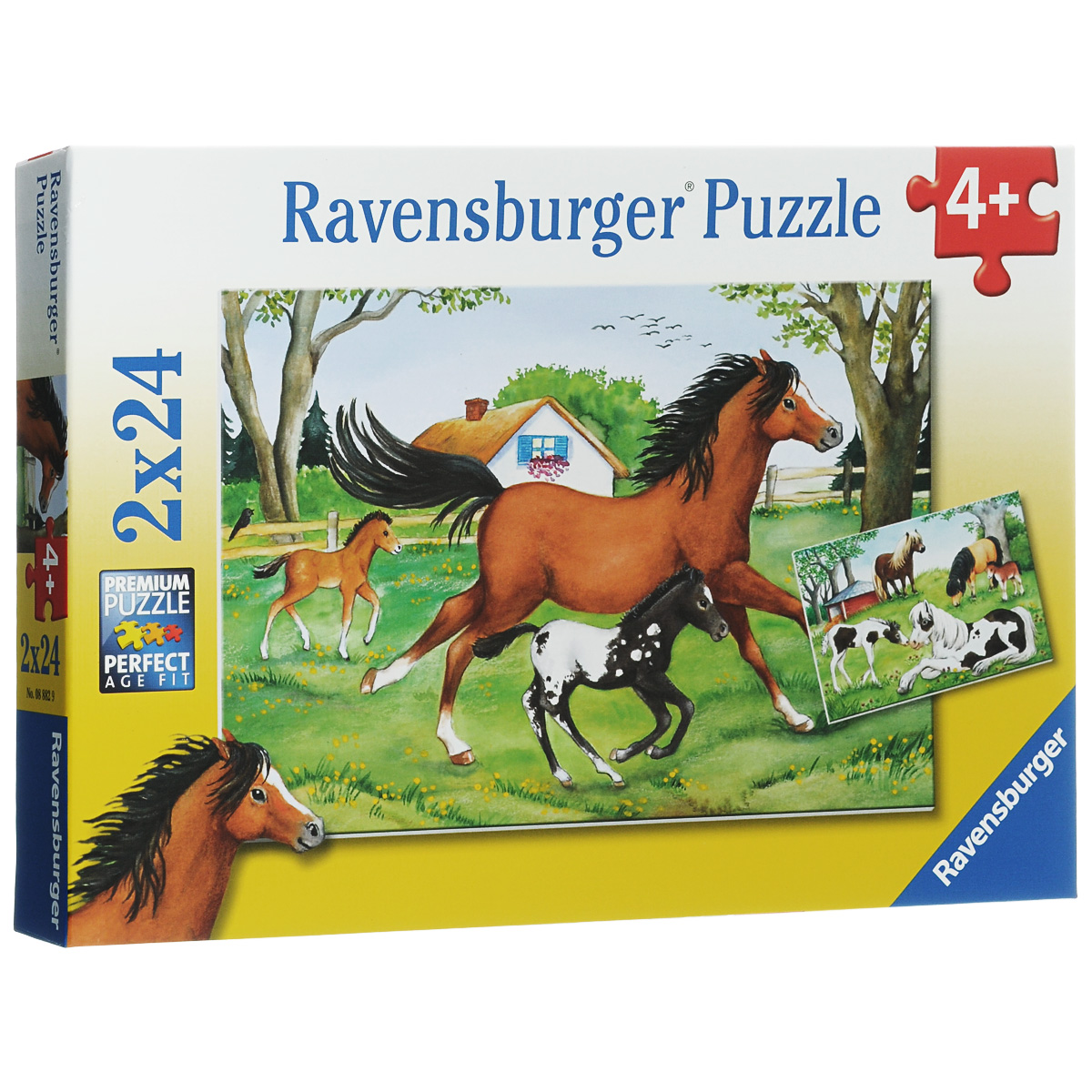 Ravensburger Мир лошадей. Пазл, 2 х 24 элемента 10pcs lot free shipping esdavlc6v1 1bm2 sod 882 new original and goods in stock