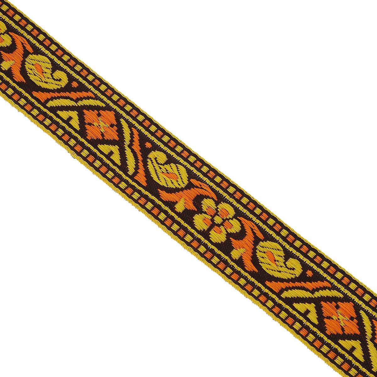 Тесьма декоративная Астра, цвет: желтый (2), ширина 2 см, длина 16,4 м. 77032797703279_2Декоративная тесьма Астра выполнена из текстиля и оформлена оригинальным орнаментом. Такая тесьма идеально подойдет для оформления различных творческих работ таких, как скрапбукинг, аппликация, декор коробок и открыток и многое другое. Тесьма наивысшего качества и практична в использовании. Она станет незаменимым элементом в создании рукотворного шедевра. Ширина: 2 см.Длина: 16,4 м.