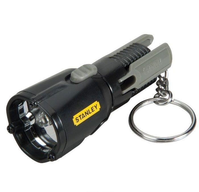 Фонарь-брелок светодиодный Stanley MaxLife Mini Tripod, цвет: черный0-95-113Материал: металл, пластик. Длина фонаря: 7,5 см. Размер в упаковке: 13,8 см х 2,5 см х 9,3 см. Работает от 3 батареек Long Life Lithium (входят в комплект). Один светодиод размером 5мм формирует луч белого цвета. Срок службы светодиода 100,000 часов. Запатентованная конструкция с треногой для удобства использования без рук. Поворотная головка с 3-мя возможными положениями. Характеристики: Материал: металл, пластик. Длина фонаря: 7,5 см. Размер в упаковке: 13,8 см х 2,5 см х 9,3 см. Работает от 3 батареек Long Life Lithium (входят в комплект). Один светодиод размером 5мм формирует луч белого цвета.Срок службы светодиода 100,000 часов.Запатентованная конструкция с треногой для удобства использования без рук. Поворотная головка с 3-мя возможными положениями. Привлекательная и весьма практичная идея по выбору подарка.Идеален для всей семьи.