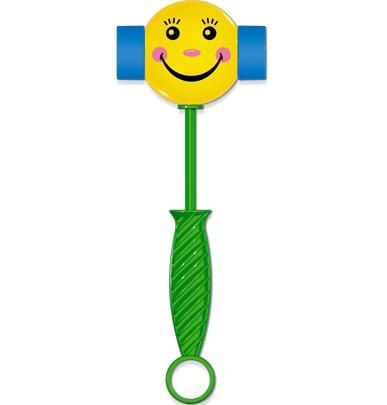 Развивающая игрушка Stellar Веселый молоточек, цвет: зеленый, желтый, голубой развивающая игрушка stellar веселый молоточек цвет малиновый розовый желтый