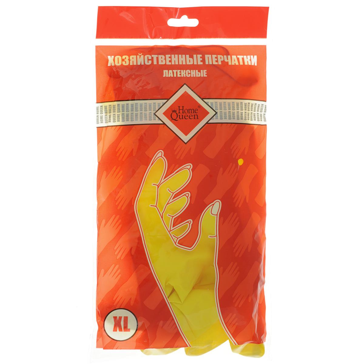Перчатки латексные Home Queen. Размер XL48Перчатки Home Queen, изготовленные из латекса, защитят ваши руки от воздействия бытовой химии и грязи. Подойдут для всех видов хозяйственных работ.