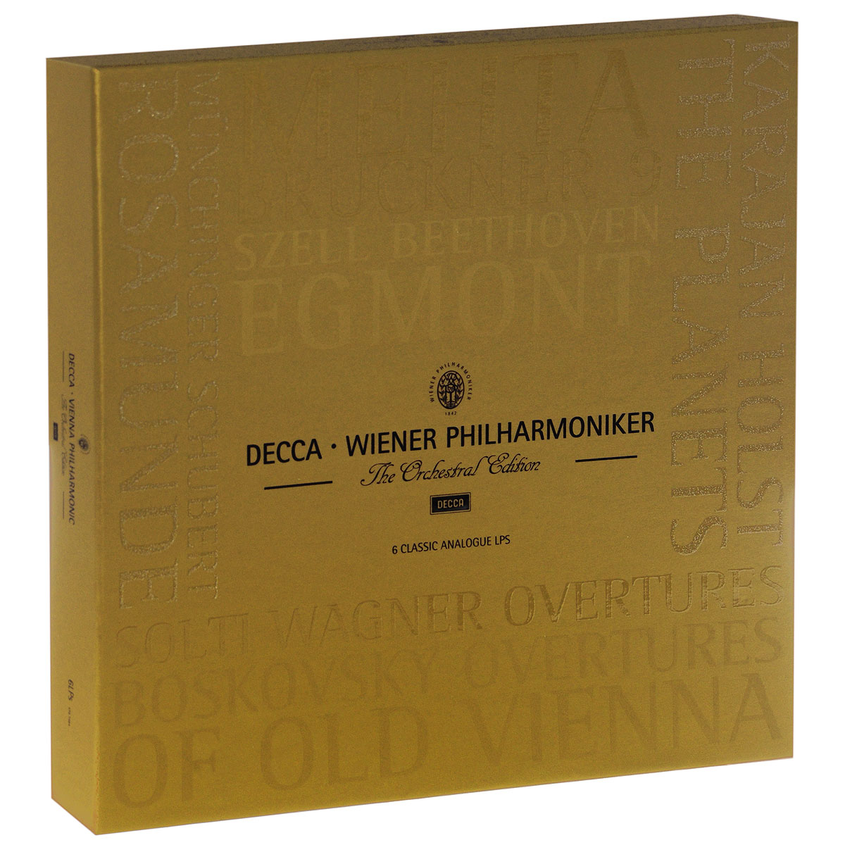 Норберт Балатш,Wiener Staatsopernchor,Yachmi Rohangiz,Вальтер Лехмайер,Пилар Лорингэр Decca. Wiener Philharmoniker. The Orchestral Edition (6 LP) франц шуберт schubert symphonie no 9 rosamunde ouverture die zauberharfe