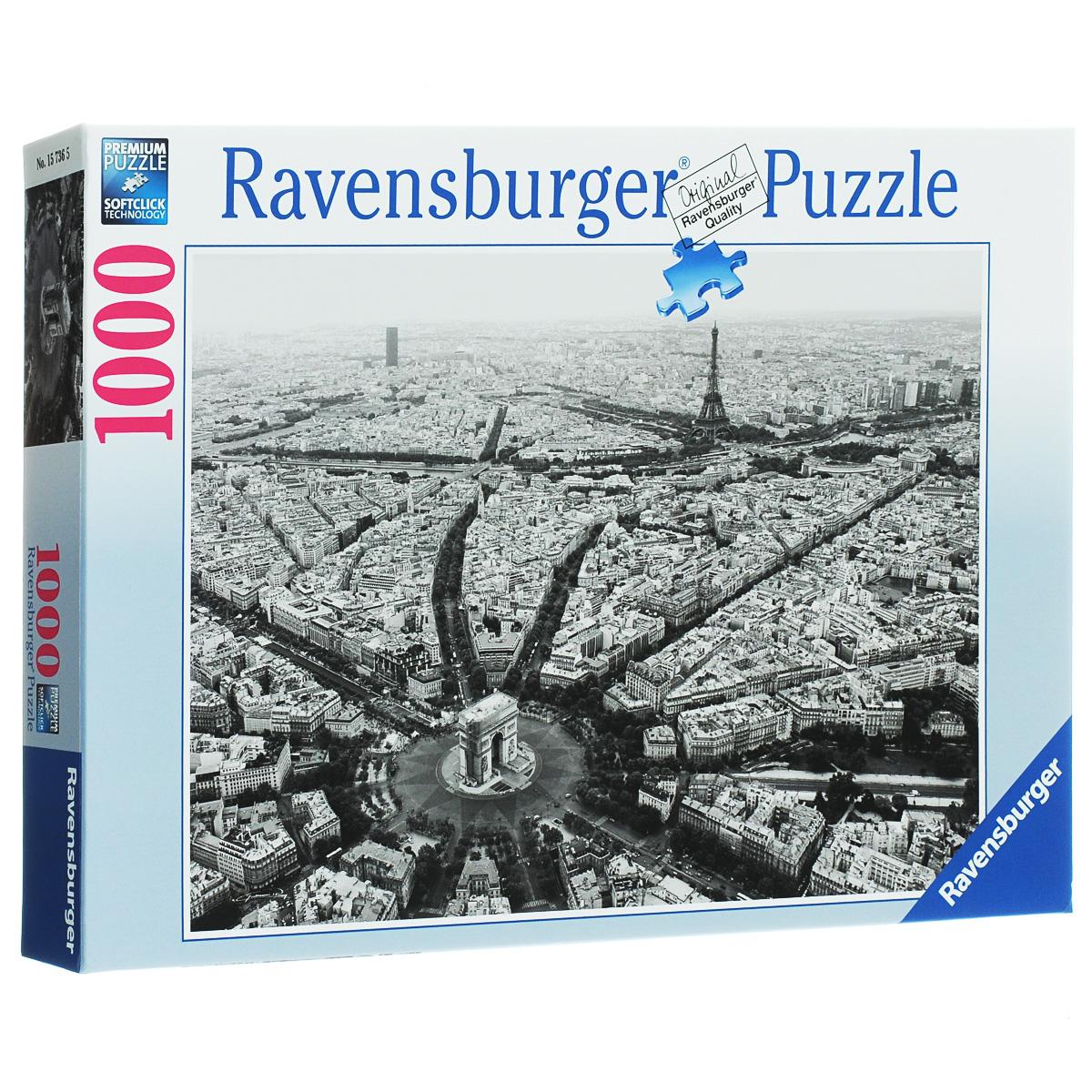 Ravensburger Черно-белый Париж. Пазл, 1000 элементов