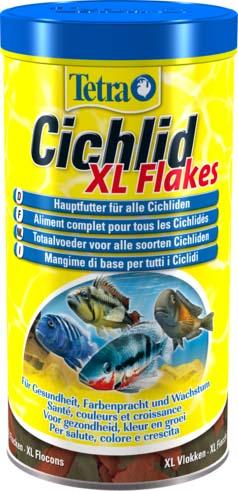 Корм Tetra Cichlid. XL Flakes для всех видов цихлид, крупные хлопья, 1  (160 г)