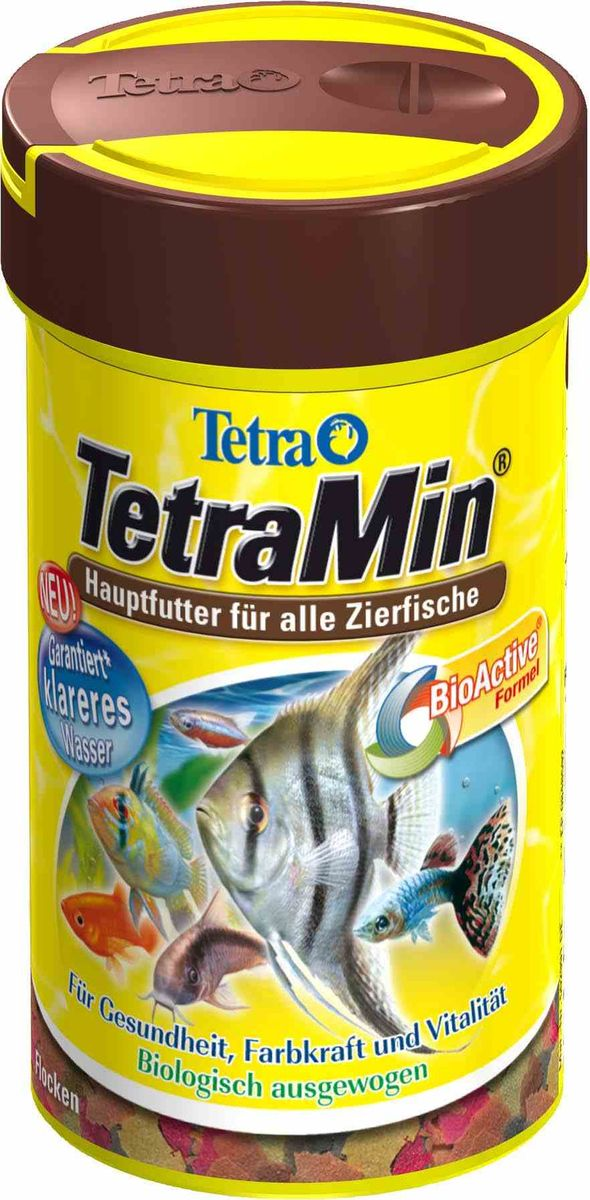 Корм Tetra TetraMin, для всех видов тропических рыб, хлопья, 20 г762701Корм для рыб Tetra TetraMin - полноценный сбалансированный корм в виде хлопьев для всех видов тропических рыб. Смесь семи видов хлопьев из более, чем 40 видов высококачественного сырья. Запатентованная БиоАктив-формула поддерживает работоспособность иммунной системы, обеспечивая высокую продолжительность жизни. Тщательно подобранная смесь высокопитательных функциональных ингредиентов, витаминов, минералов и микроэлементов для ежедневного полноценного питания рыб. Товар сертифицирован.