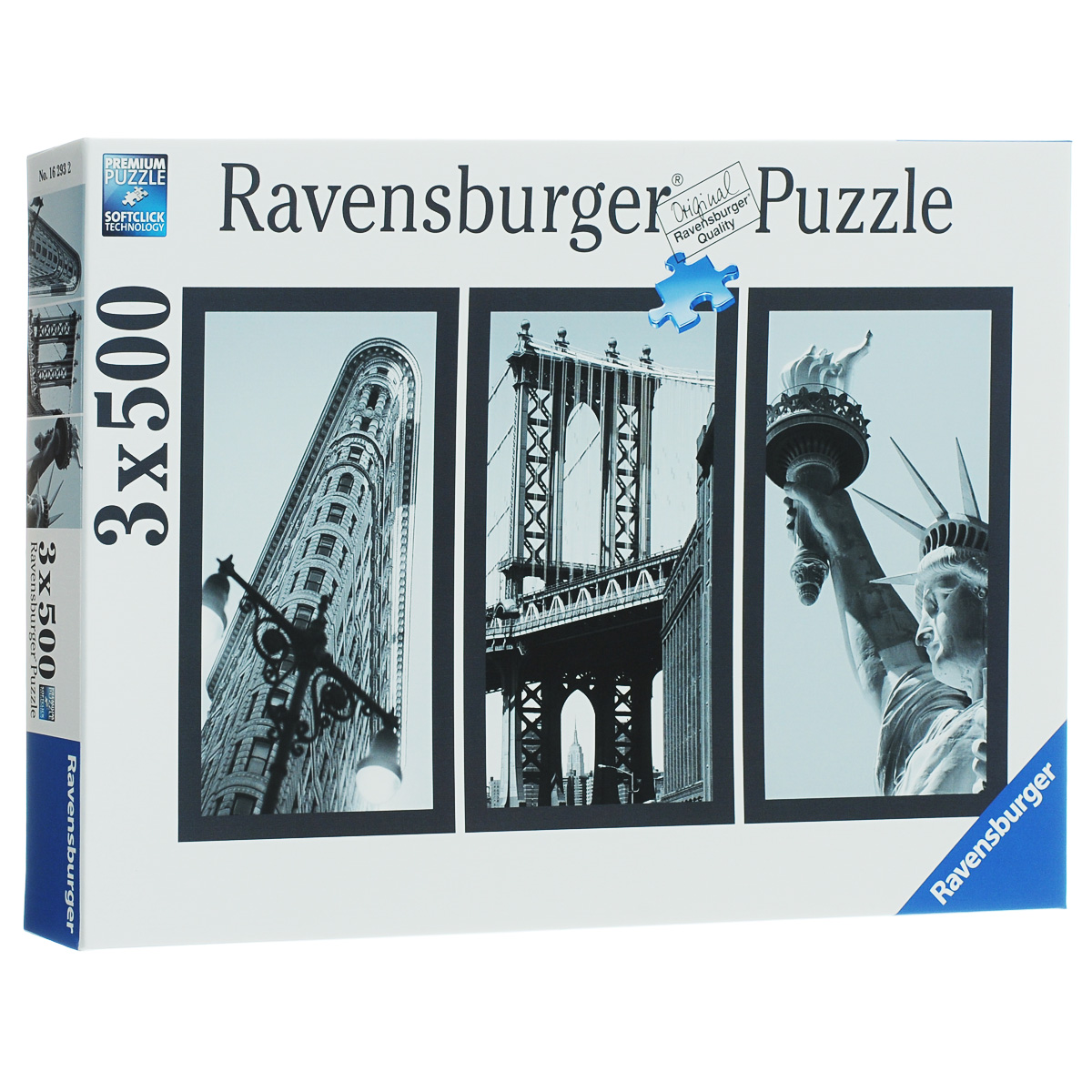Ravensburger Воспоминания о Нью-Йорке. Пазл, 3 х 500 элементов