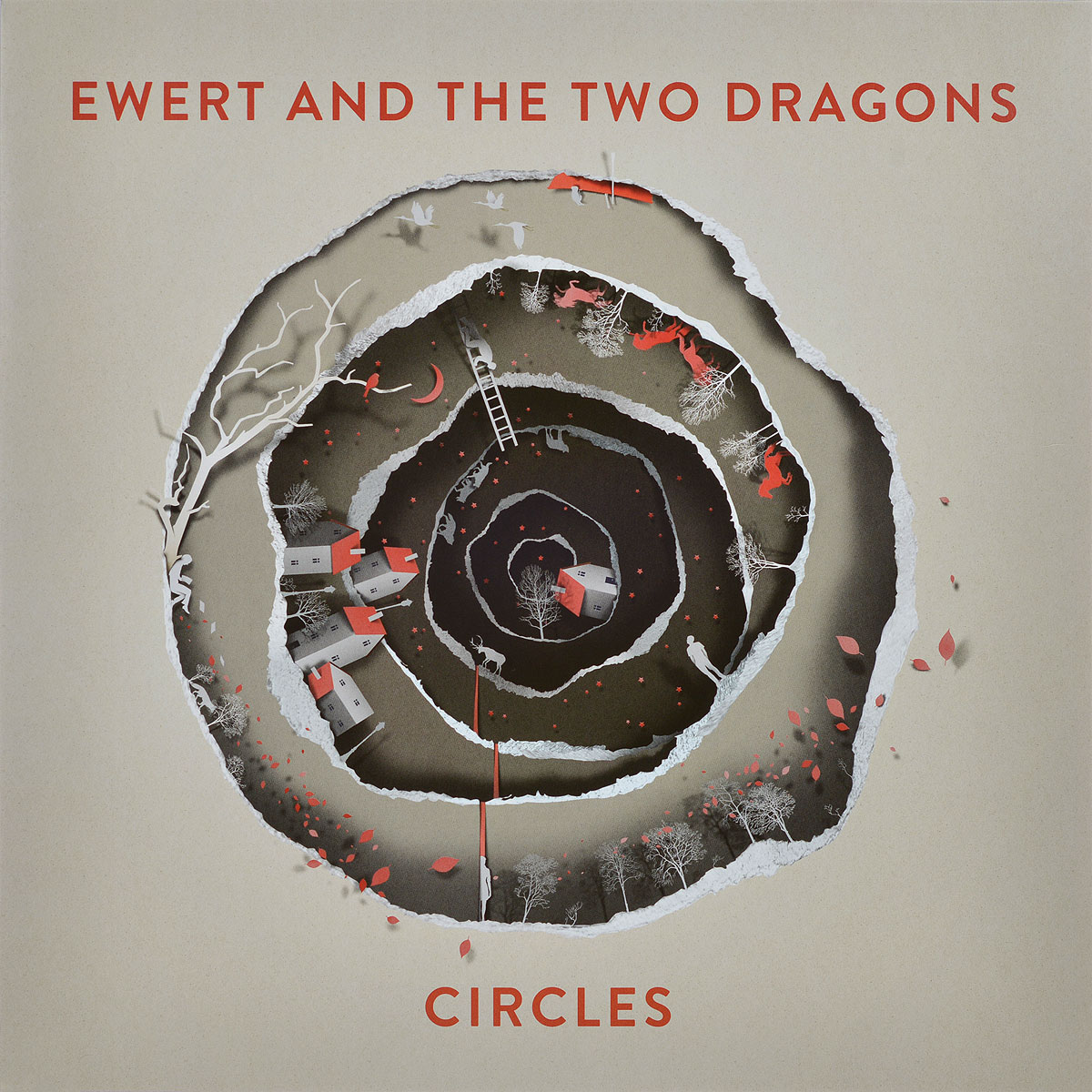 Ewert And The Two Dragons Ewert And The Two Dragons. Circles (LP) stylish off the shoulder flounced lace top and two layers red skirt women s two piece dress