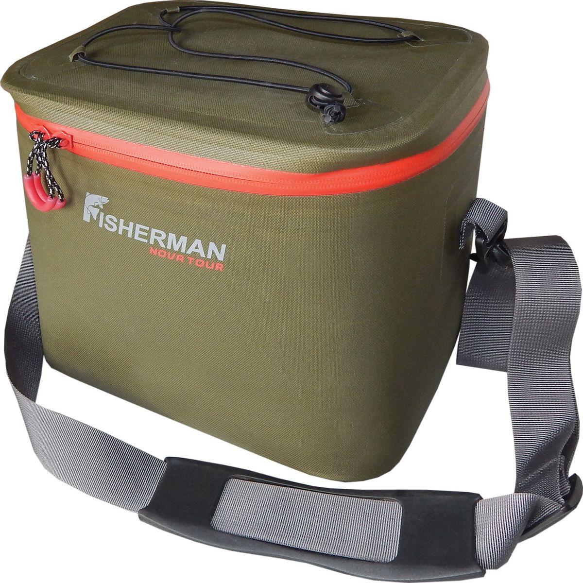 Сумка Fisherman Nova Tour Кейс PRO, цвет: хаки, 14 л сумка дорожная nova tour кэйр цвет коричневый 48 л