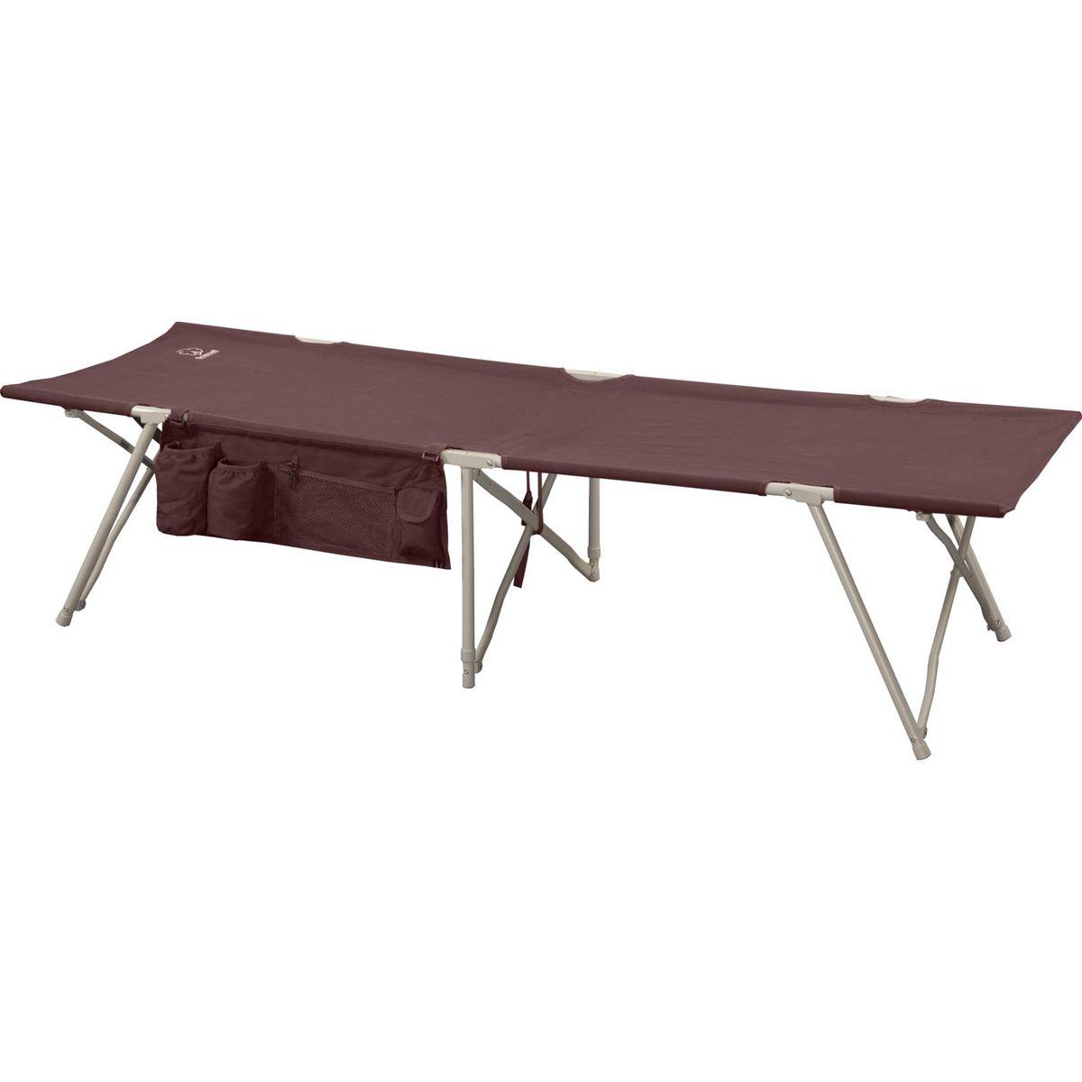 Кровать складная Greenell BD-3, цвет: коричневый, 190 см х 64 см х 43 см71161-232-00Удобная и компактная кровать для кемпинга Greenell BD-3 отличается совершенным механизмом, простотой сборки-разборки и малыми габаритами в сложенном виде. Кровать выполнена из прочного полиэстера. Каркас - сталь диаметром 16 мм.В комплект входит чехол для хранения и переноски.