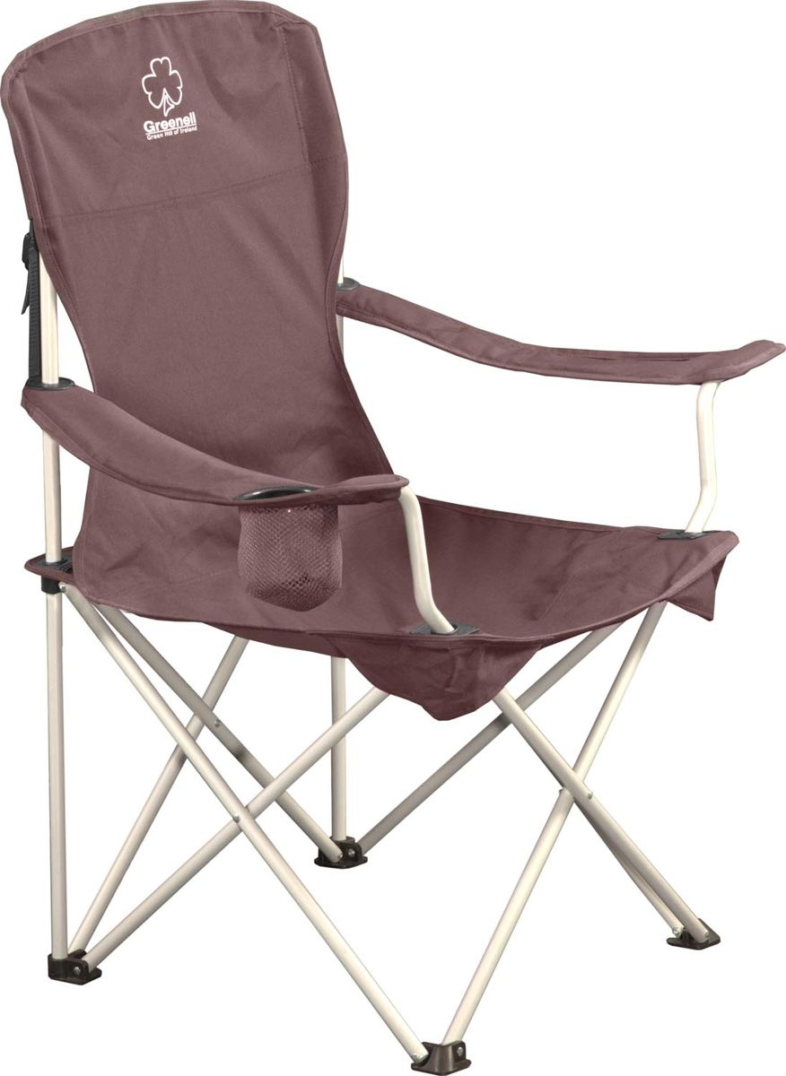 Стул складной Greenell FC-6, цвет: коричневый стул складной greenell fc 15 r16 95857 502 00 33 5х29х42 67 5см